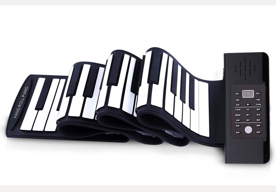 携带科汇兴手卷钢琴与朋友一起开心演奏!