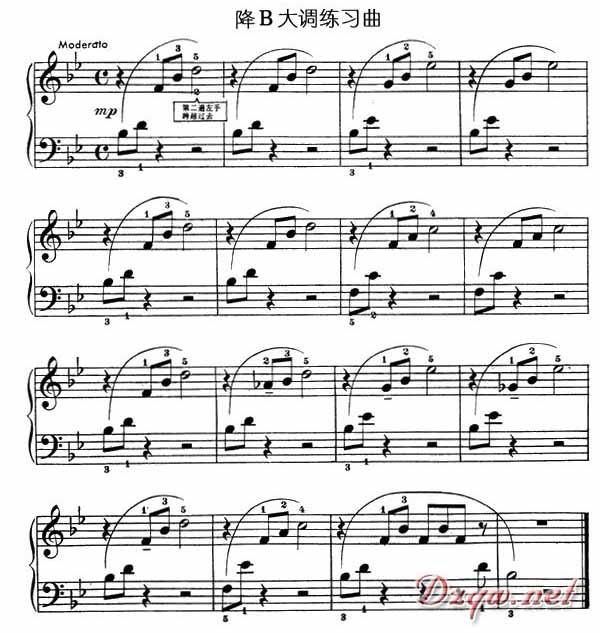 手卷钢琴手指操之二(图文版)